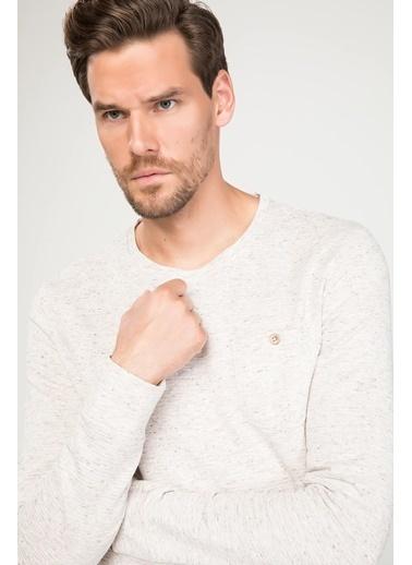 DeFacto Uzun Kollu Slim Fit T-shirt Beyaz